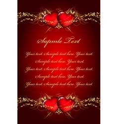 velentines day wish card vector image vector image