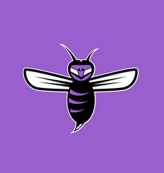 agressive bee or wasp mascot design template vector image vector image