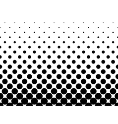 Halftone background of black dots vector image vector image