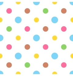 Seamless colorful polka pattern for easter eggs vector image