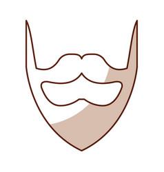shadow vintage beard cartoon vector image