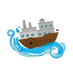 ship boat travel icon vector image vector image