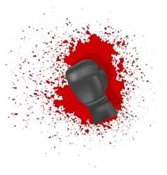 Single Boxing Glove vector image vector image