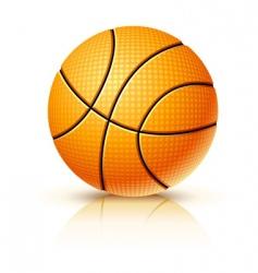 ball for playing basketball game vector image vector image