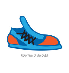 blue-orange running shoes icon isolated on white vector image