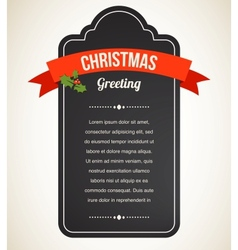 Chalkboard Christmas vintage invitation and label vector image