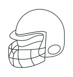 Helmet of american football sport design vector image
