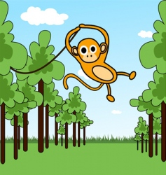 monkey in a jungle vector image