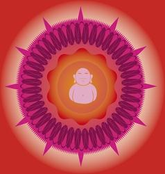 power budda mandala vector image vector image