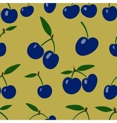 Seamless pattern plum fruit randomly scattered vector image