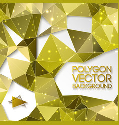 abstract gold triangle background vector image vector image
