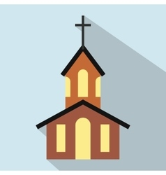 Church flat icon vector image