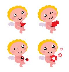cute valentines cupid vector image vector image