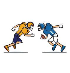 football player cartoon character vector image vector image