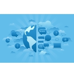 Global Forum blue vector image