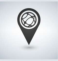 map pointer globe internet flat icon vector image