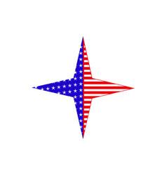 a star usa flag icon vector image