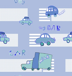 Abstract background seamless baby cars vector image