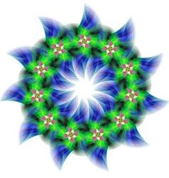 Abstract circular fractal star design vector