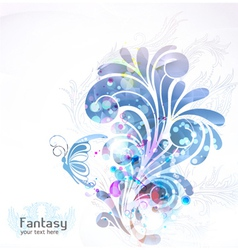 abstract swirls background vector image