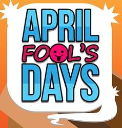 April Fools Days Text art vector image