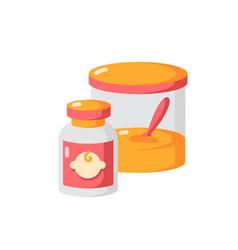 Baby food flat color icon vector