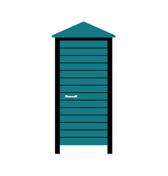 beach changing dressing cabin vector image