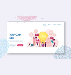 Brand awareness campaign landing page template vector