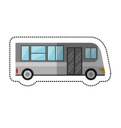 Bus public transport vehicle shadow vector
