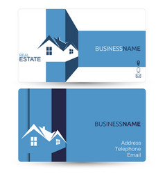 business card for real estate vector image