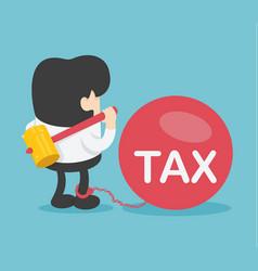 businessman break big tax vector image