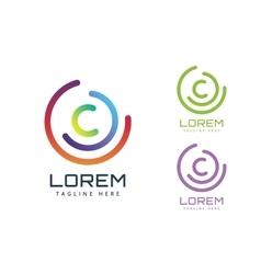 C letter logo icon symbol vector image