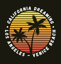 California los angeles venice beach - t-shirt vector