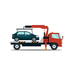car evacuating broken or damaged auto isolated on vector image