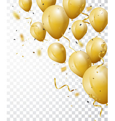 celebration background with gold confetti vector image