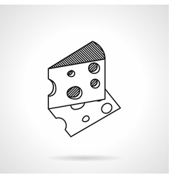 Cheese black line icon vector image