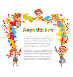 Children draw abstract spots vector