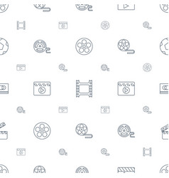 cinematography icons pattern seamless white vector image