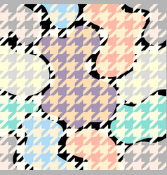 classic hounds-tooth pattern in a patchwork vector image
