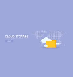 Cloud storage banner concept vector