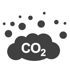 Co2 gas emission flat icon symbol vector