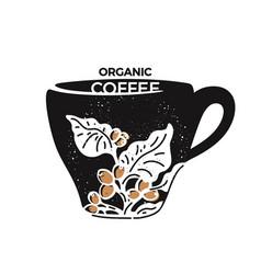coffee espresso cup symbol hand drawn isolate vector image