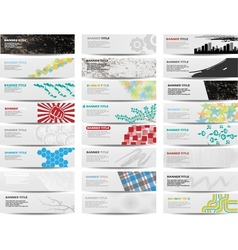 COLORFUL BANNER SET OF TWENTY-FOUR SET 2 vector image