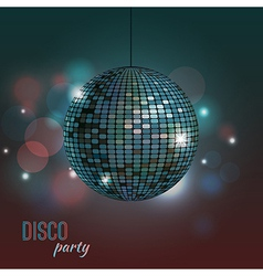 Colorful of disco ball vector