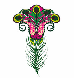 coloured feather or flower vector image