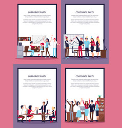 corporate party set of four vector image