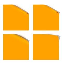 Curled Orange Paper Corner vector image