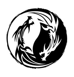 dragon 10 yin yang vector image