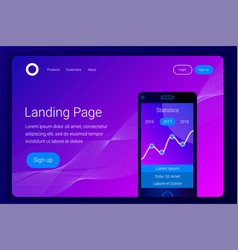 financial analytics mobile app concept vector image