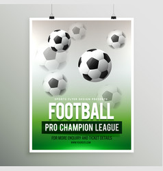 football pro championship league flyer template vector image